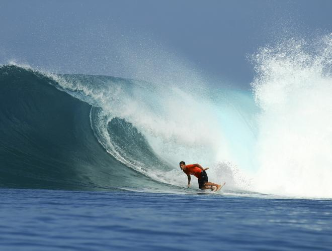 THE SURF BREAKS ON LEMBONGAN ARE WORLD RENOWNED