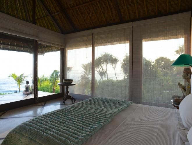 THE SPACIOUS BEDROOMS, SEPARATE BUNGALOWS, ALL HAVE SPECTACULAR OCEAN VIEWS